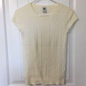 Gap Ivory Short Sleeve Sweater